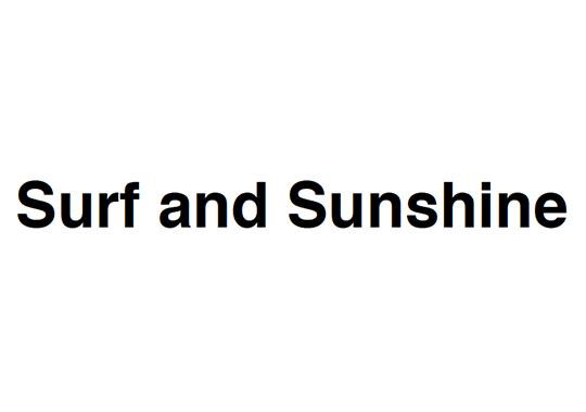 Surf and Sunshine Logo