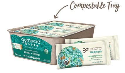 Tray of GoMacro Granola Snack Bars with Coconut