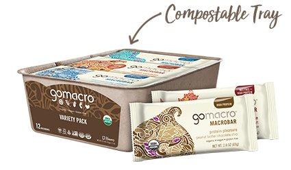 Tray of GoMacro MacroBars Variety Pack