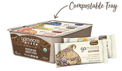 Tray of GoMacro Protein Bars Variety Pack