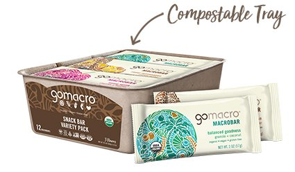 Tray of GoMacro Snack Bars Variety Pack