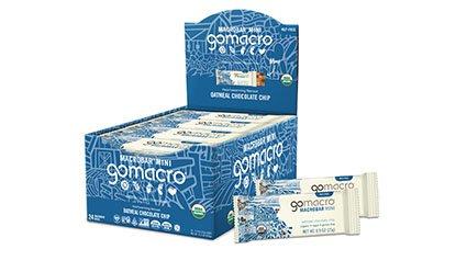 Tray of GoMacro Oatmeal Chocolate Chip Mini Bars