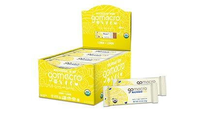 Tray of GoMacro Lemon + Lemon Mini Bars