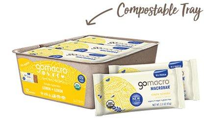 Tray of GoMacro Lemon Snack Bars