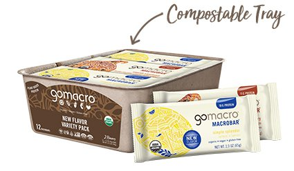 Tray of GoMacro New Flavor Variety Pack