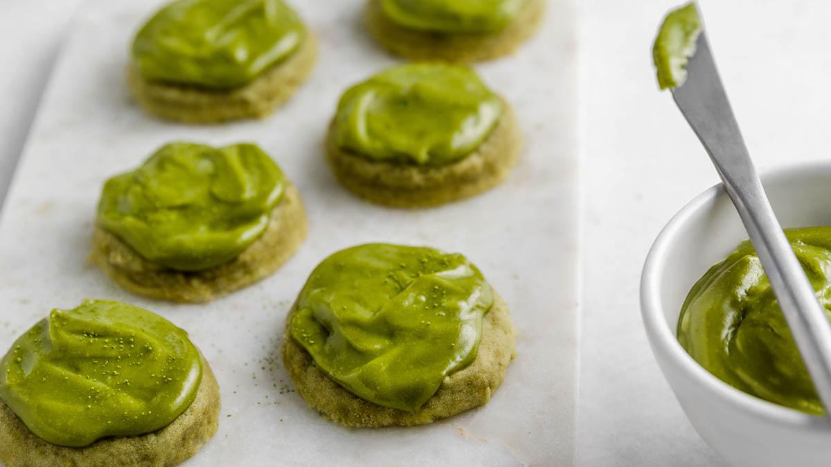 Gluten-Free + Vegan Matcha Sugar Cookies