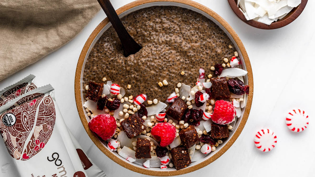 Chocolate Peppermint Chia Seed Bowl