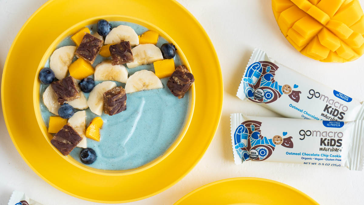 Kids Blue Mango Banana Smoothie Bowl