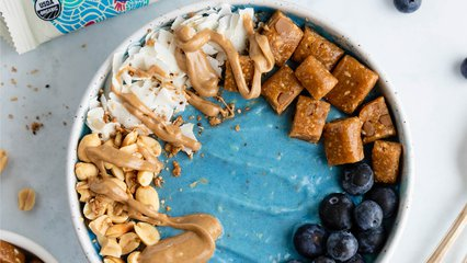 Blue Protein Smoothie Bowl