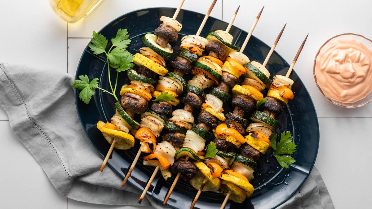 Grilled Veggie Kabobs